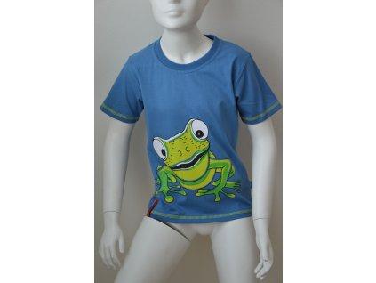 Chlapecké triko Kugo s potiskem - modré