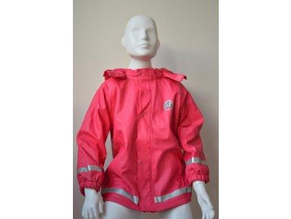 Dívčí nepromokavá bunda Kugo - růžová