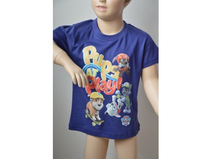 Chlapecké triko s krátkým rukávem Tlapková patrola