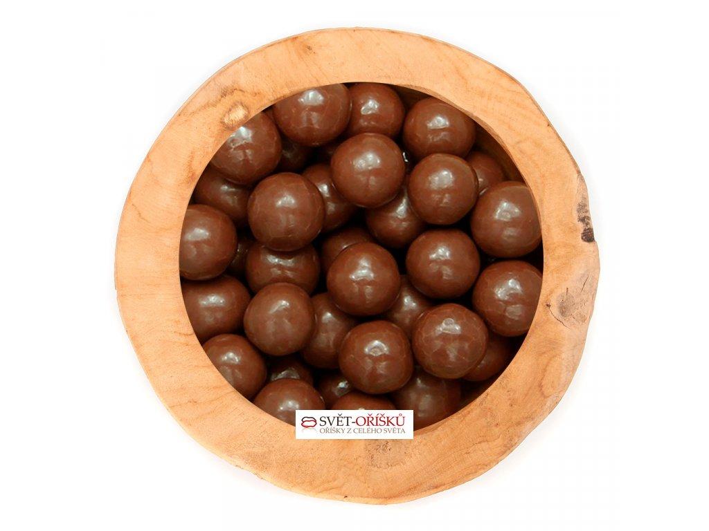 Marcipánové kuličky v hořké čokoládě
