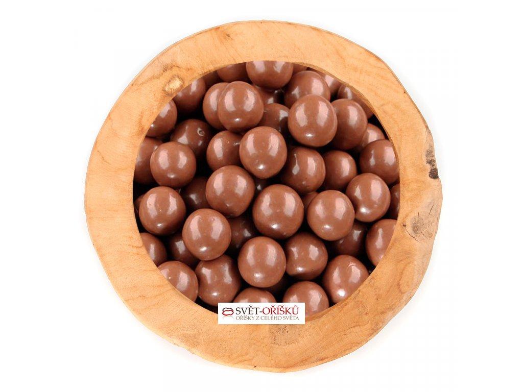 Marcipánové kuličky v mléčné čokoládě