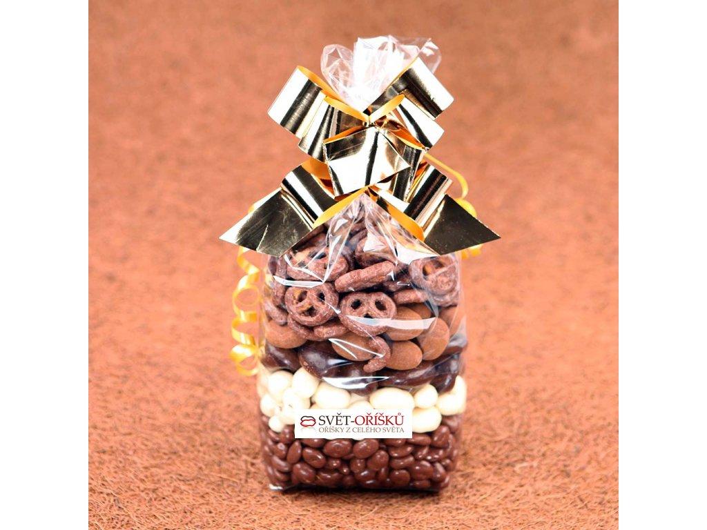Dárkový sáček 1kg Oříškový - čokoláda mix 8