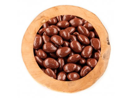 Mandle v polevě z mléčné čokolády