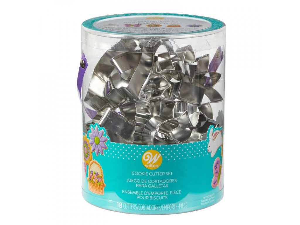 2308 5008 Wilton Easter Cookie Cutter Tub 18 Count Set A1