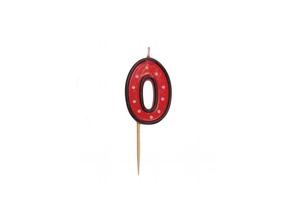Svíčka číslo červené - 0