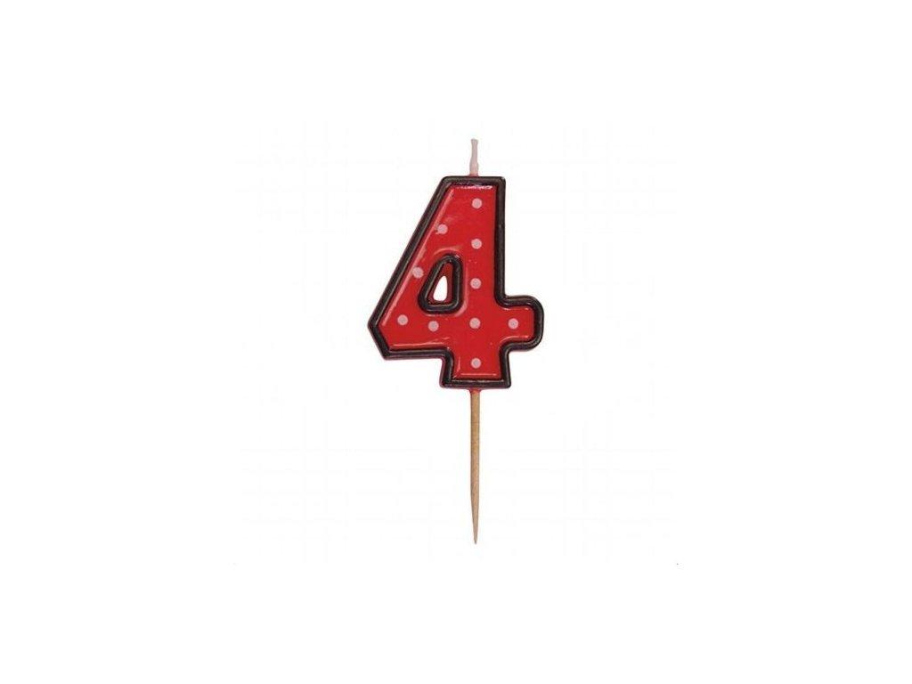 Svíčka číslo červené - 4