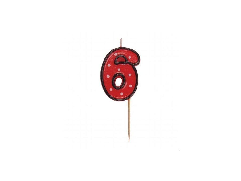 Svíčka číslo červené - 6