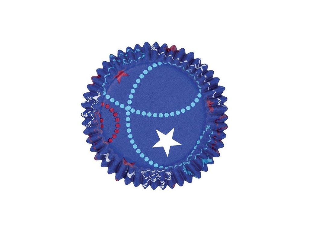 Košíčky hliníkové Wilton 50 x 32 mm - Celebrate Blue