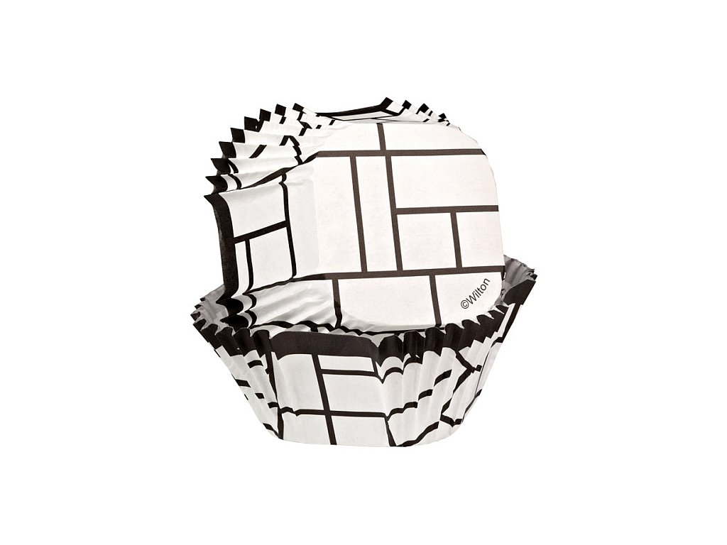 Košíčky Wilton čtvercové - White Blocks