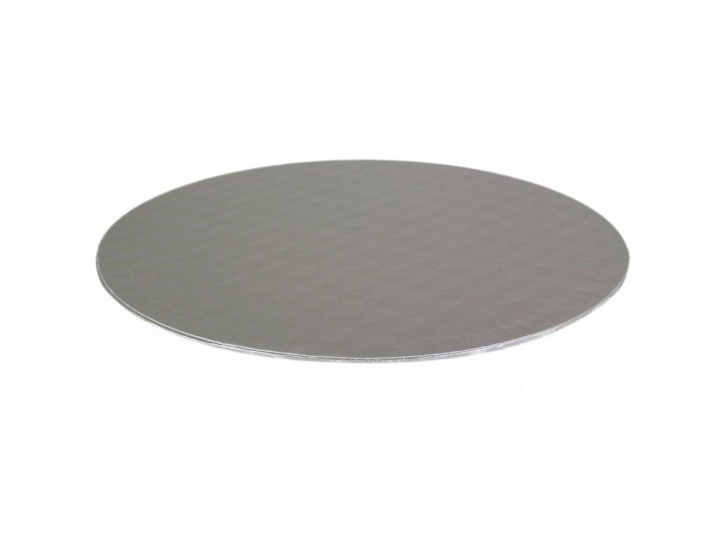 podložka pod dort stříbrná  průměr 101 mm