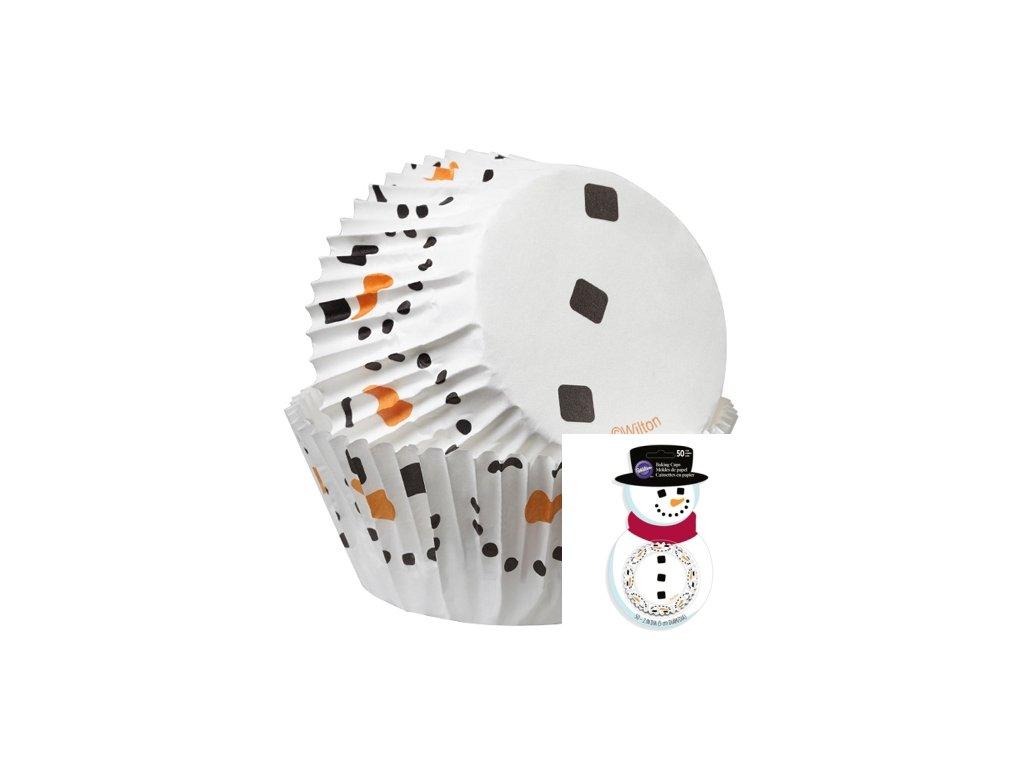 Košíčky Wilton 50 x 32 mm - Sněhulák