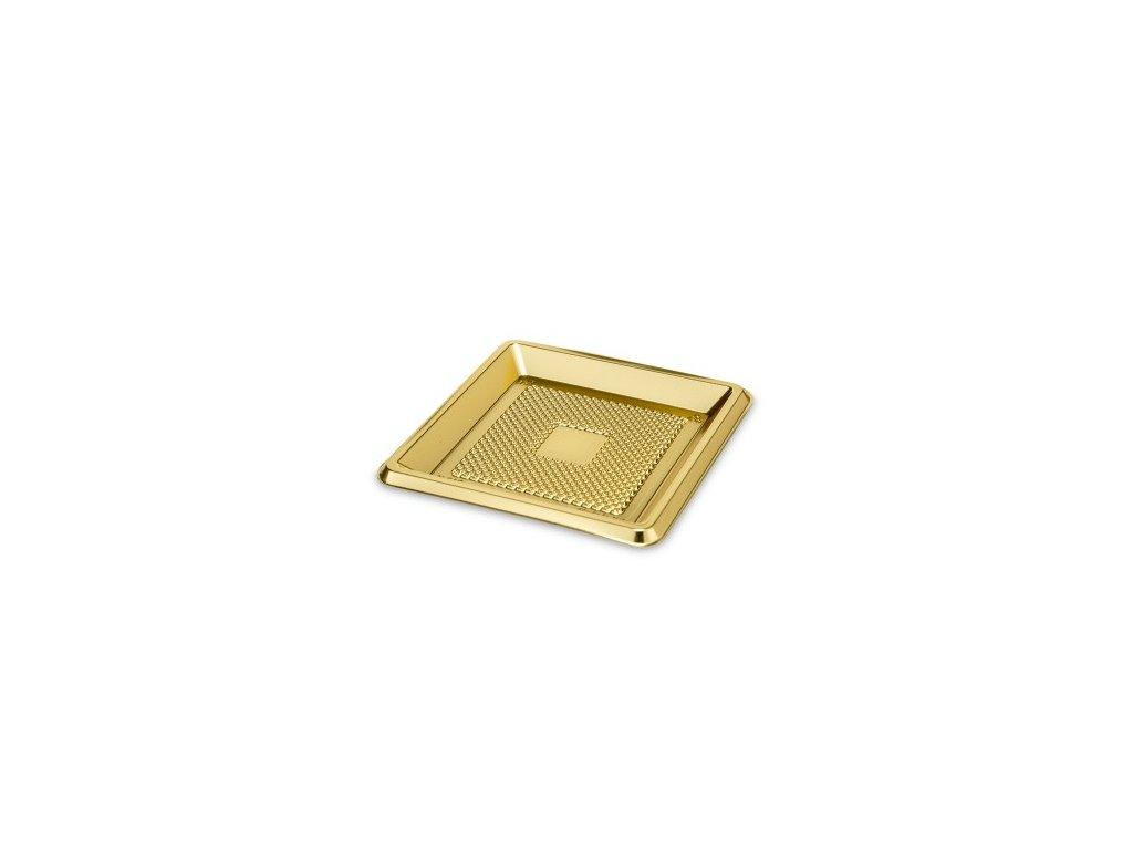 Podložka pod dezerty - zlatý čtverec 9,5 cm