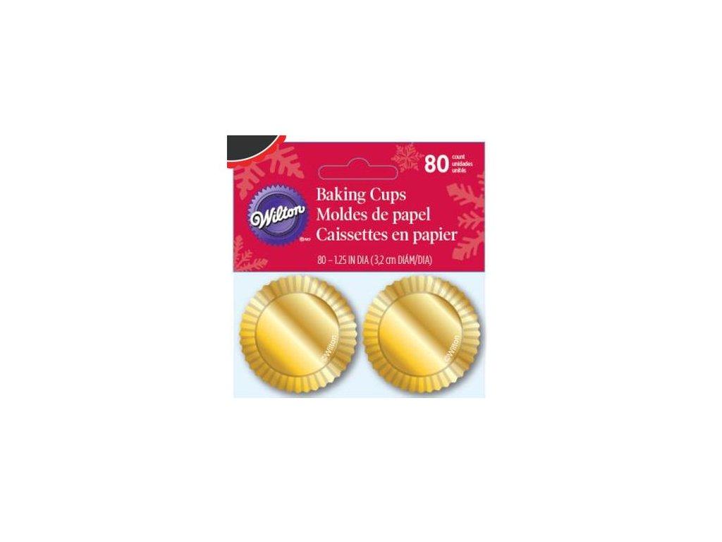 Košíčky Wilton 32 x 22 mm - Se zlatou fólií mini (80 ks)