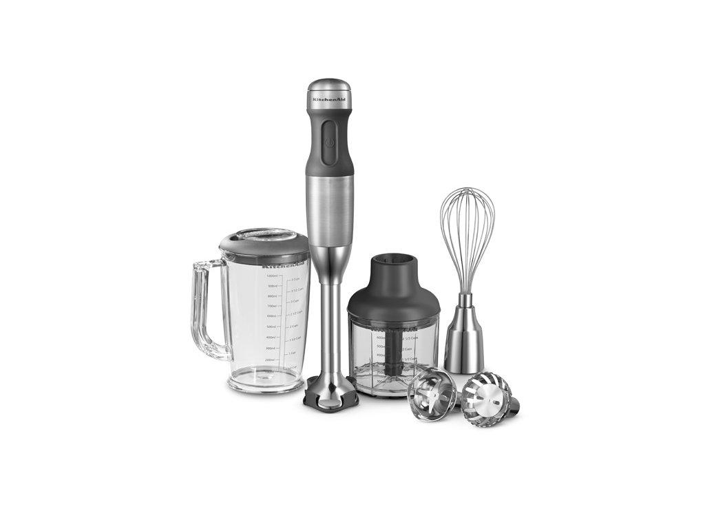 Tyčový mixér - stříbrný