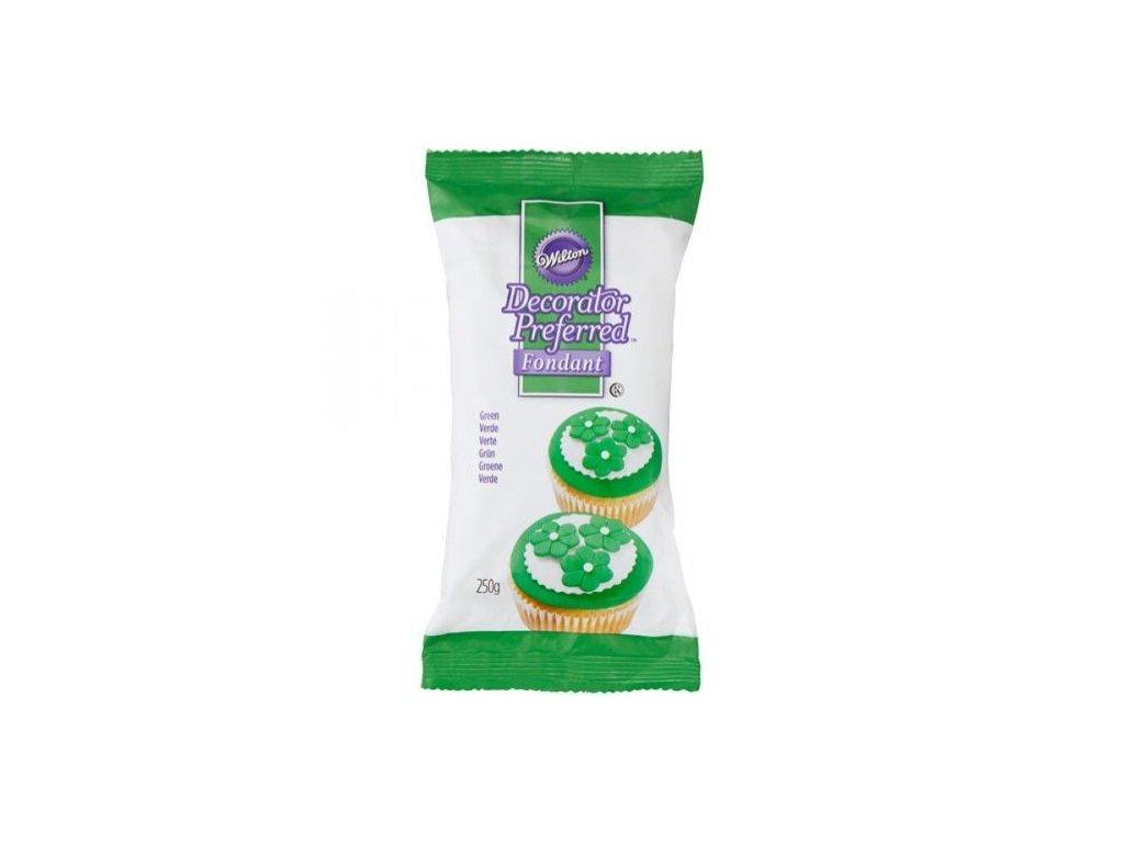 Fondant Wilton 250 g - Zelený - expirace 09/21