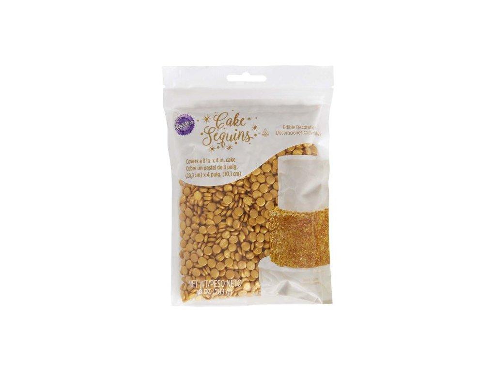 Cukrové pecičky Wilton - Zlaté