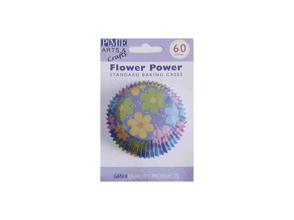 Košíčky 50 x 30 mm (60 ks) - Modré s květy