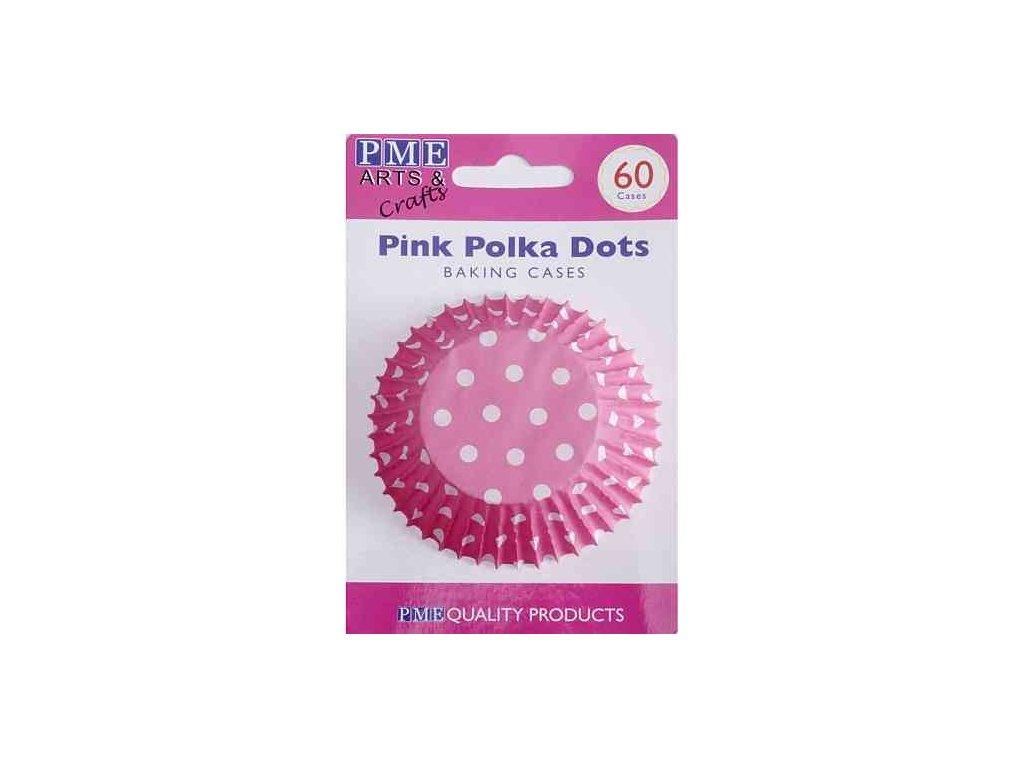 Košíčky 50 x 30 mm (60 ks) - Růžové s puntíky