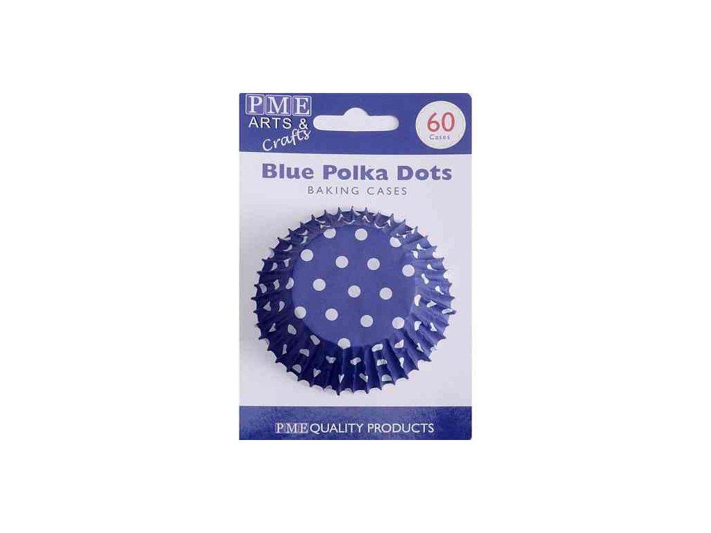 Košíčky 50 x 30 mm (60 ks) - Modré s puntíky