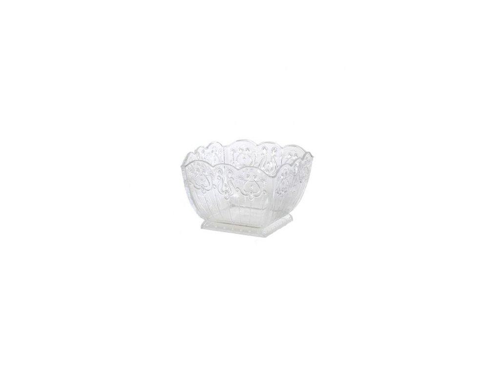 Plastové pohárky zdobené - Průhledné (6 ks)