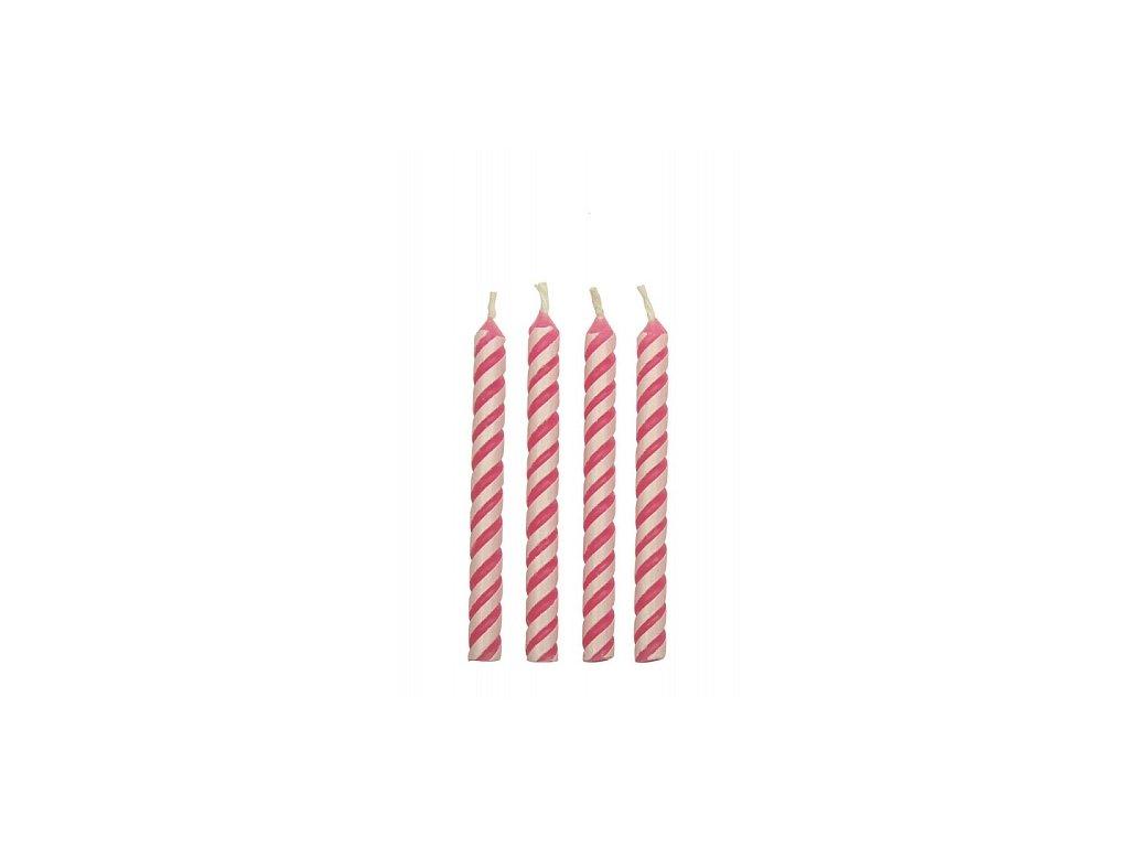 Svíčky PME - růžové 24 ks