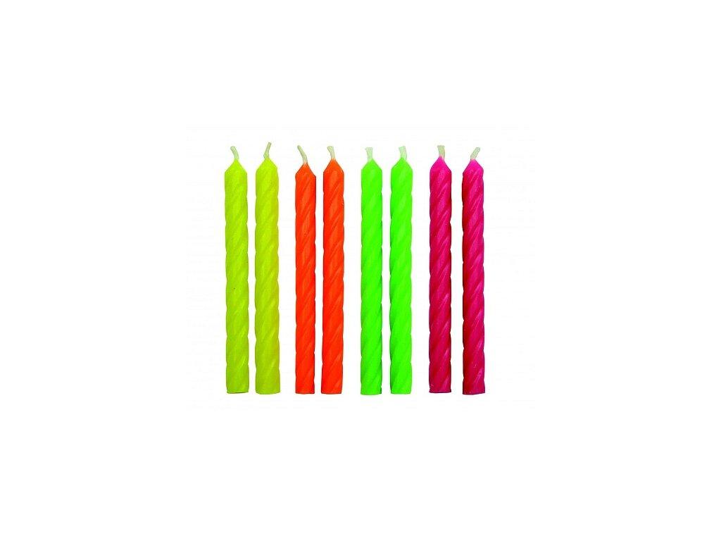 Svíčky PME - Neon 24 ks