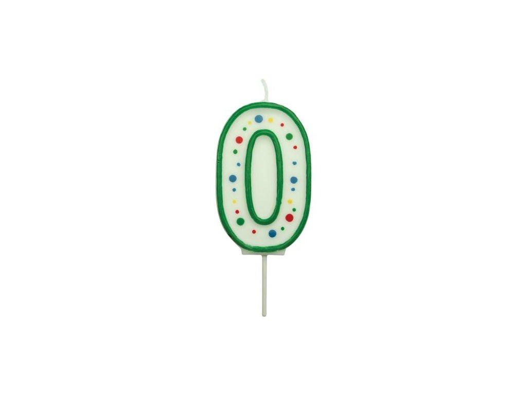 Svíčka číslo PME - Zelená 0