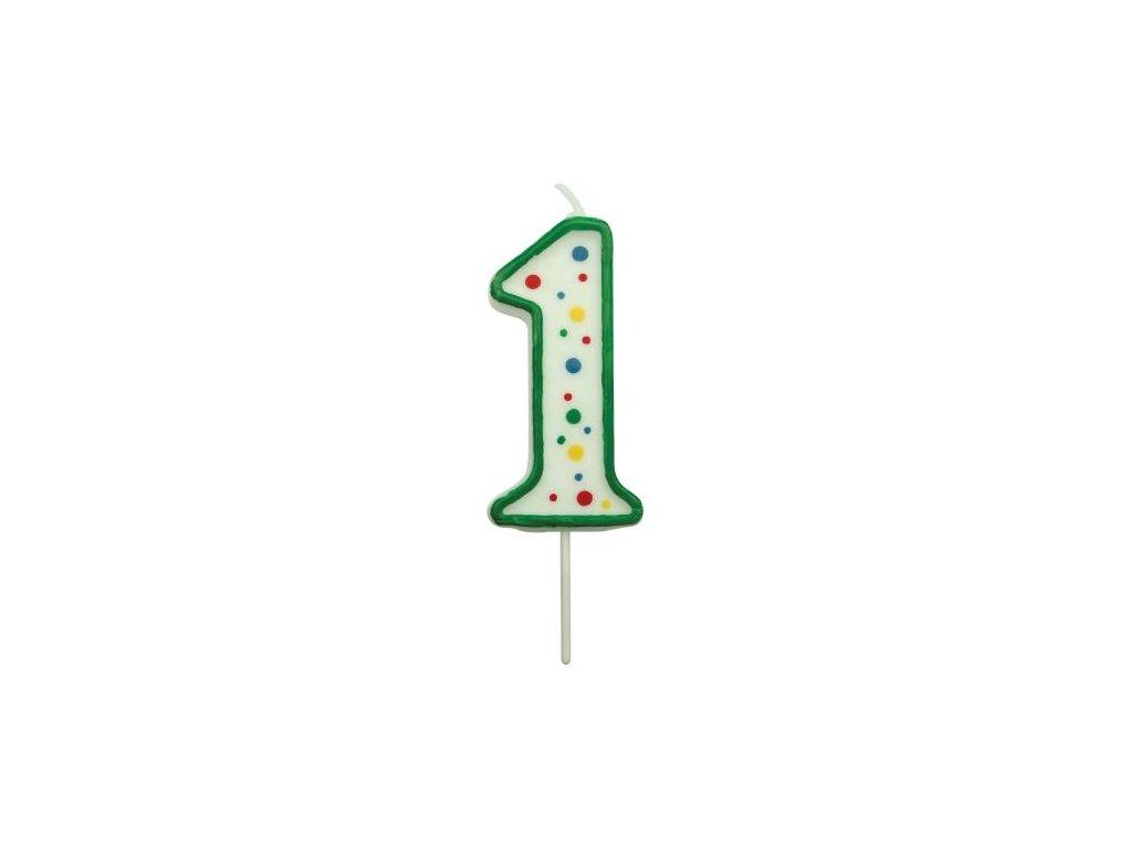 Svíčka číslo PME - Zelená 1