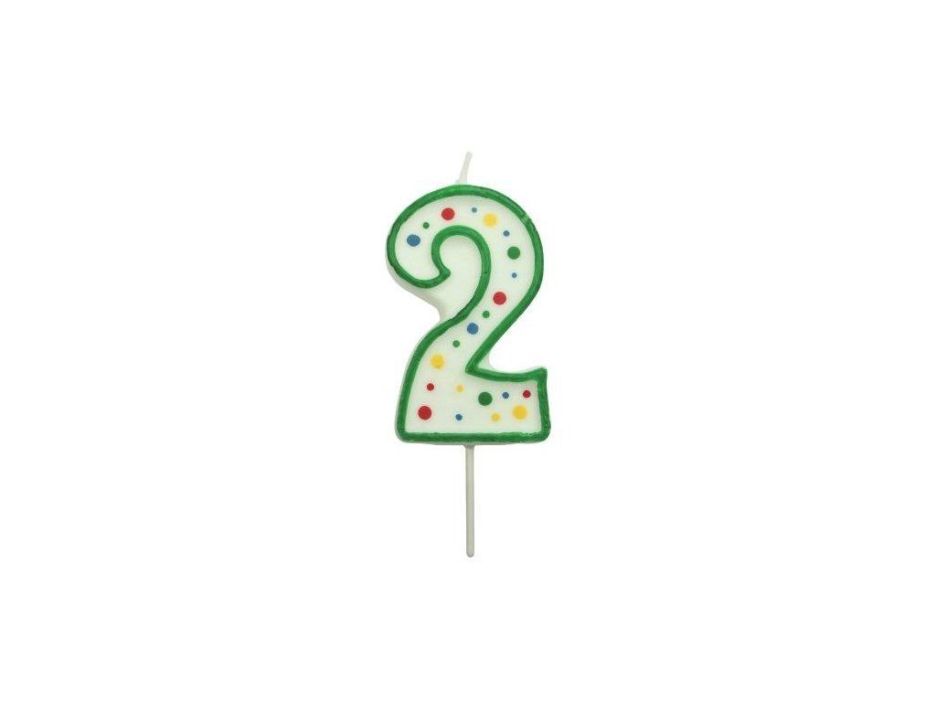 Svíčka číslo PME - Zelená 2