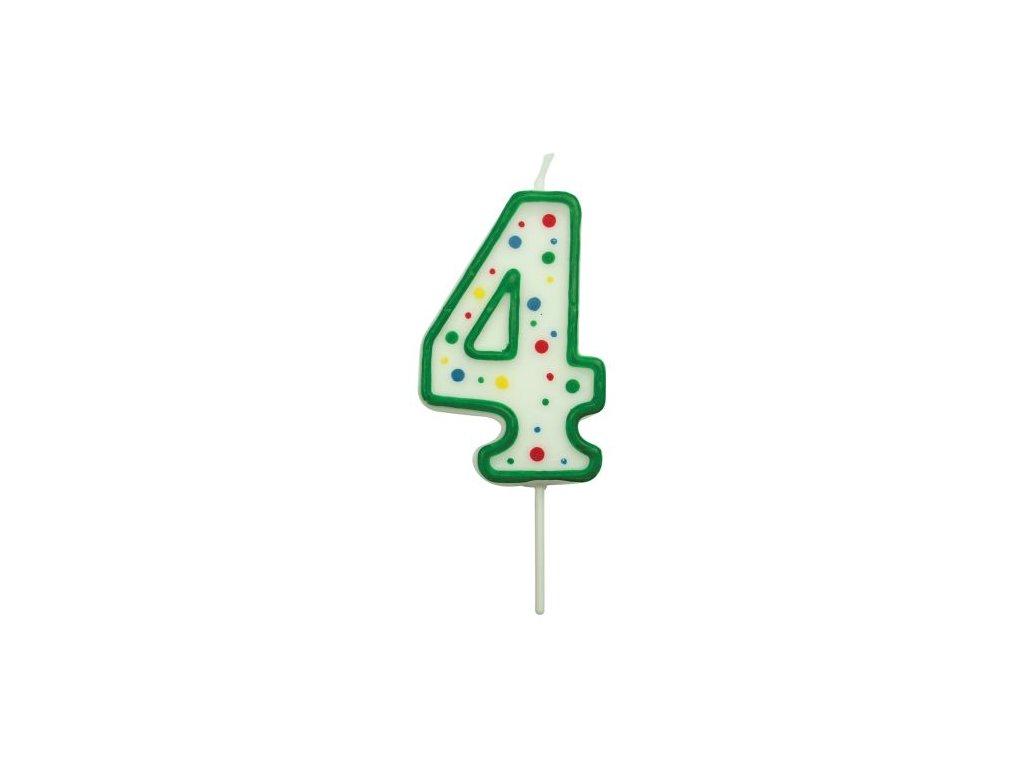 Svíčka číslo PME - Zelená 4