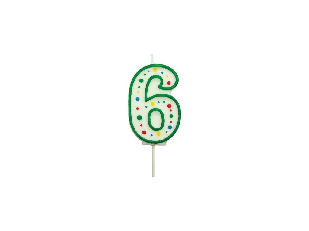 Svíčka číslo PME - Zelená 6