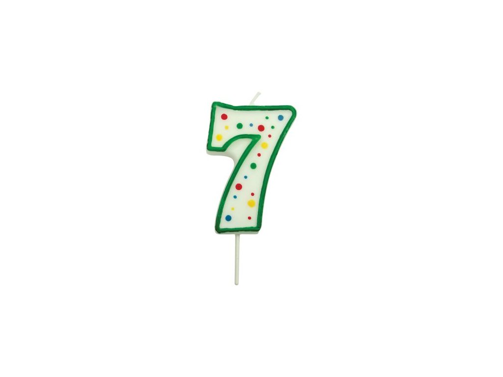 Svíčka číslo PME - Zelená 7