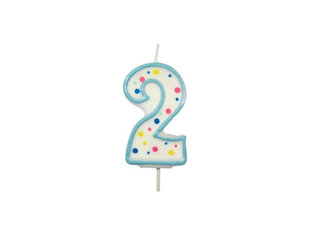 Svíčka číslo modré - 2