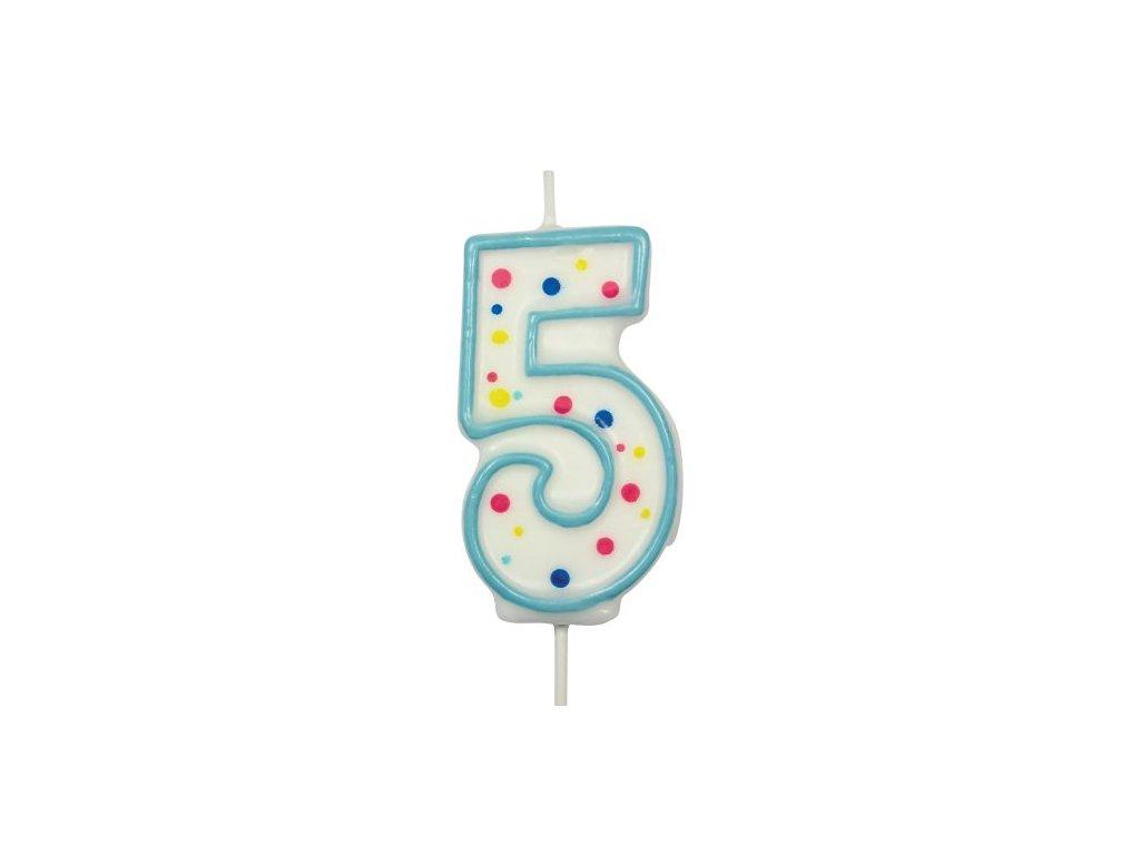 Svíčka číslo modré - 5
