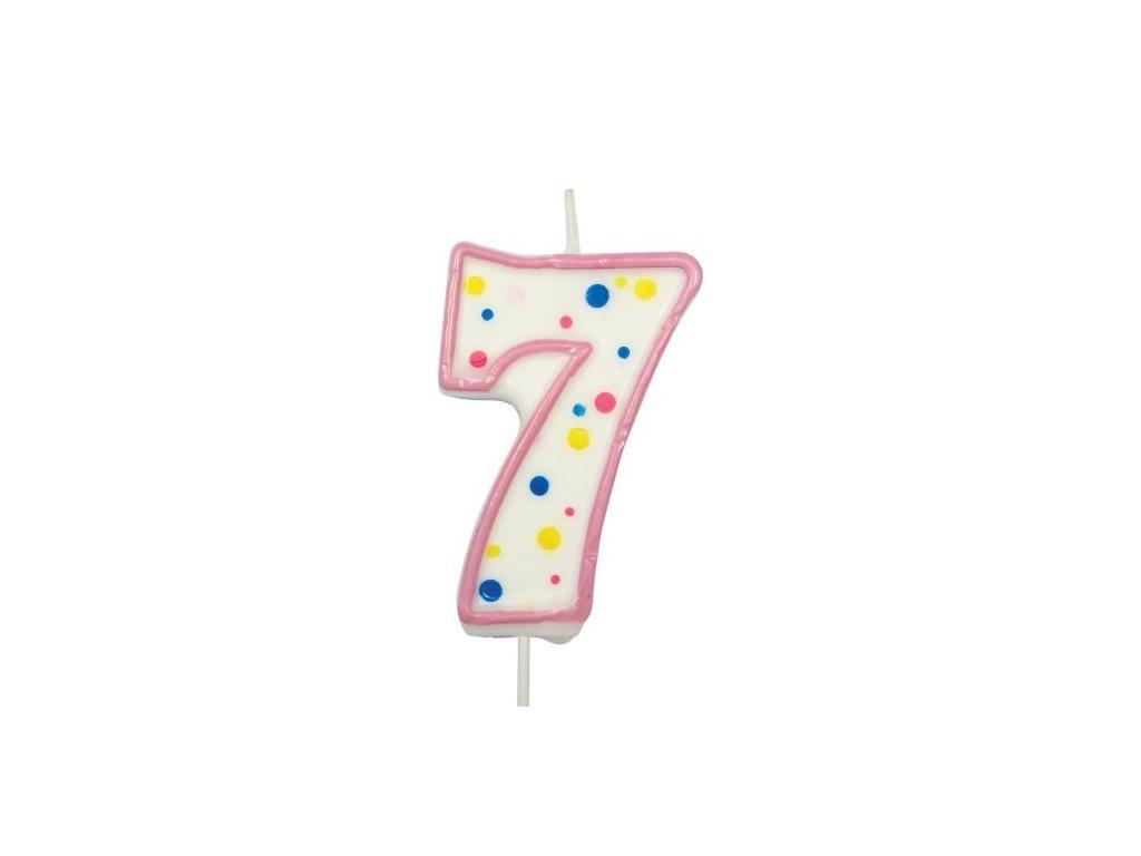 Svíčka číslo růžové - 7