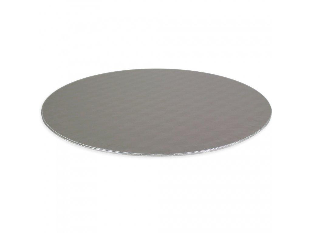 podložka pod dort stříbrná Ø 152 mm