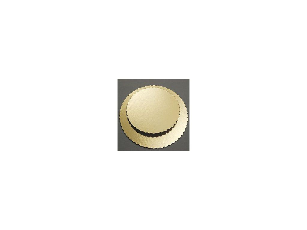 Zlatá podložka pod dort Ø 22 cm