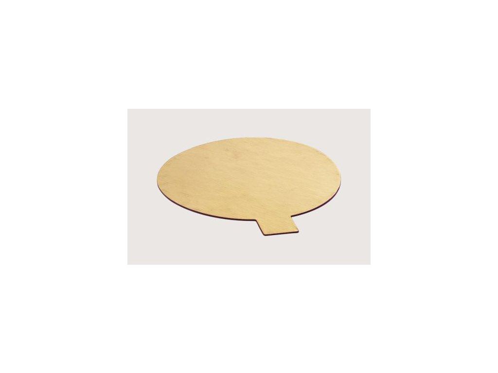 Zlatá podložka pod dort Ø 10 cm se záložkou
