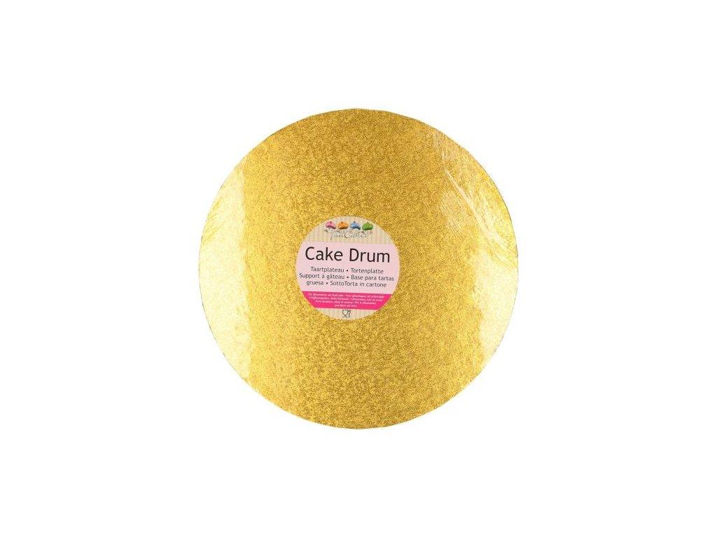 Dortová podložka Fun Cakes - Kruh 25 cm zlatá