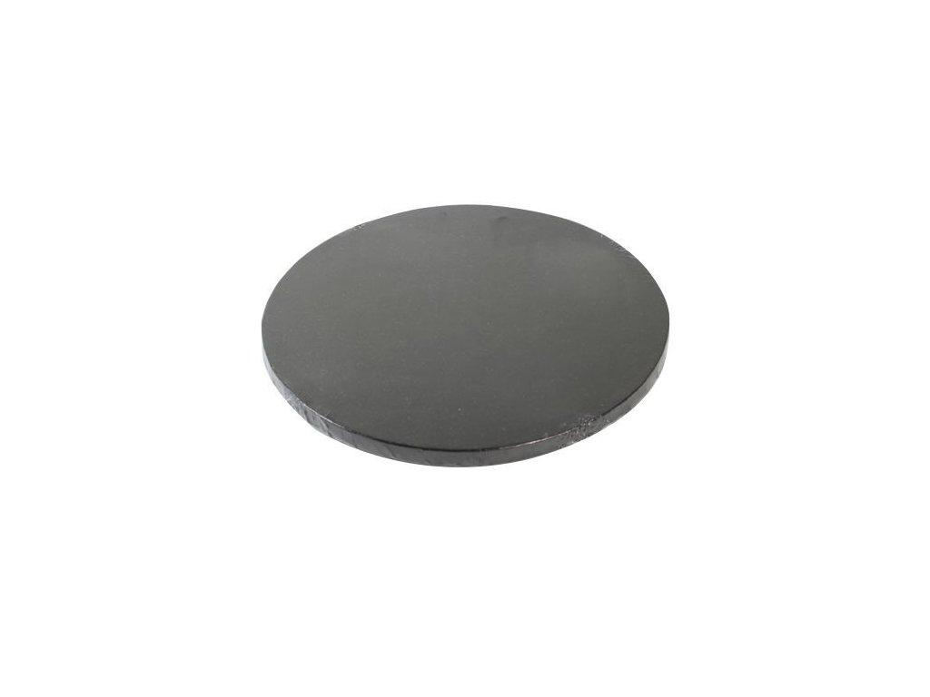 Dortová podložka Fun Cakes - Kruh 30 cm černá