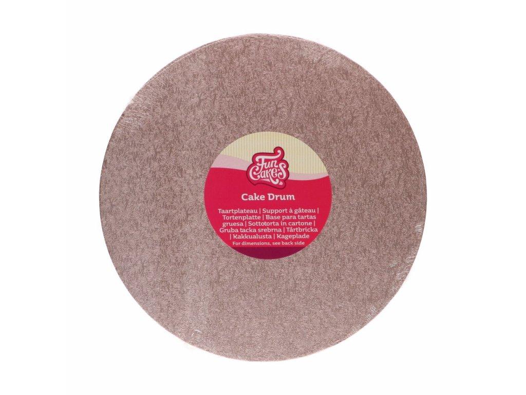Dortová podložka Fun Cakes - Kruh 25 cm růžová