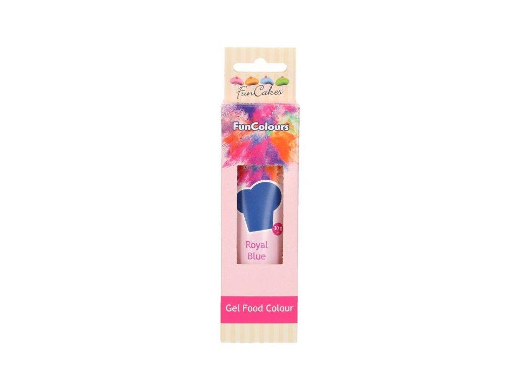 Royal Blue  30 g ( Královská modrá )  - gelová barva FunCakes