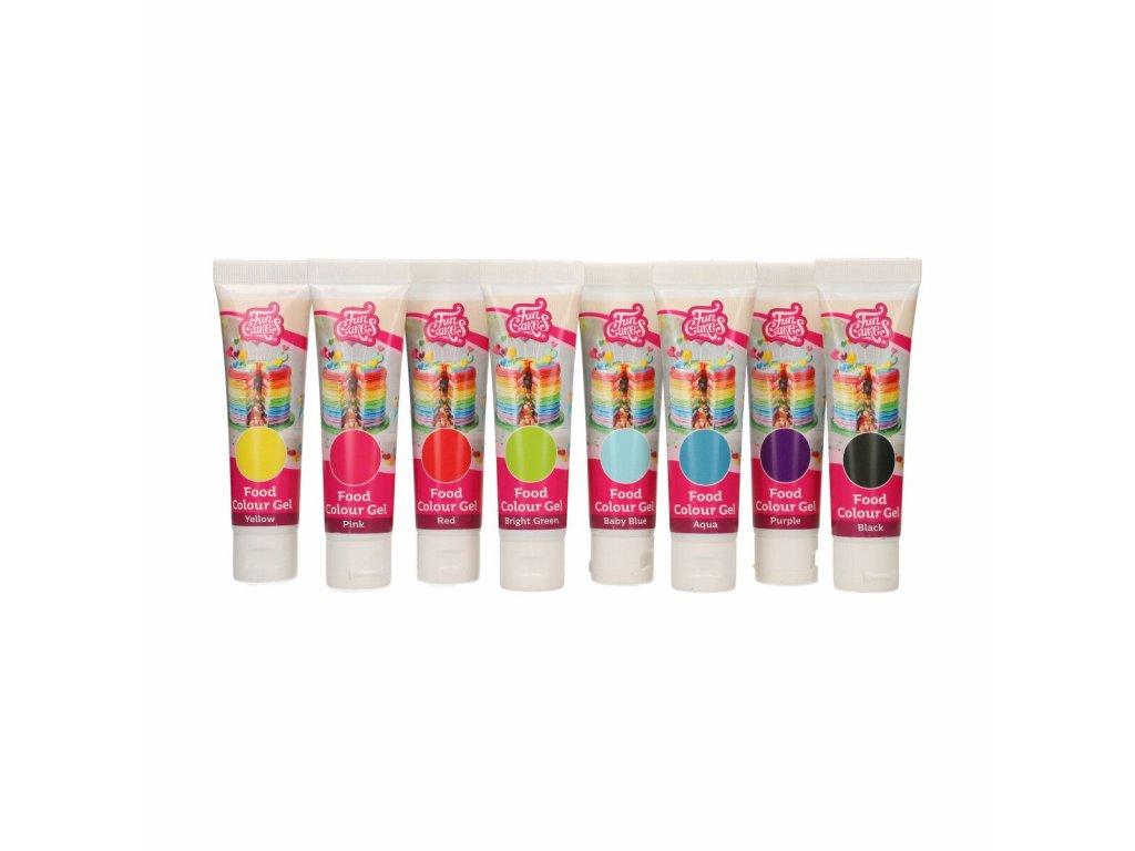 Sada 8 gelových barev FunColours