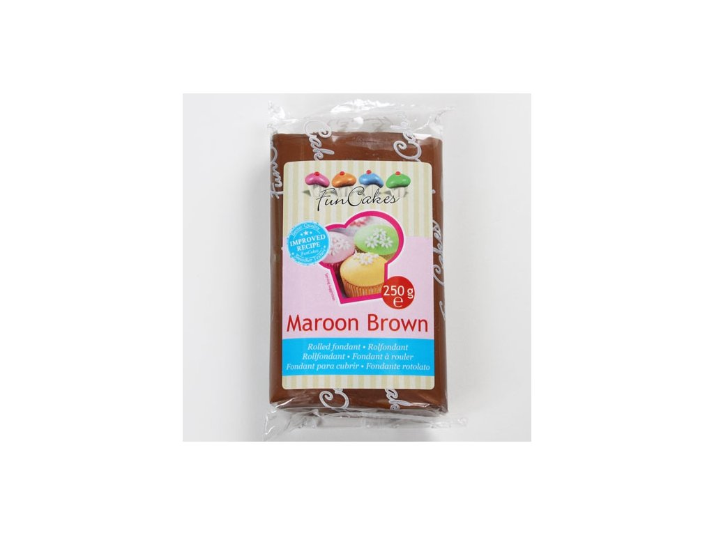 Hmota Fun Cakes 250 g - Maroon Brown