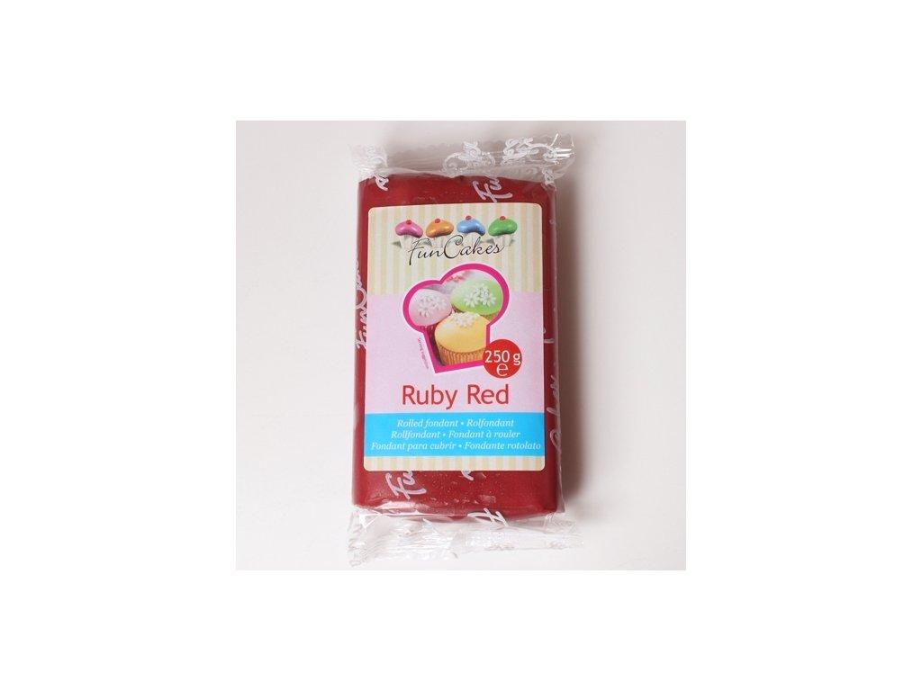 Hmota Fun Cakes 250 g - Ruby Red