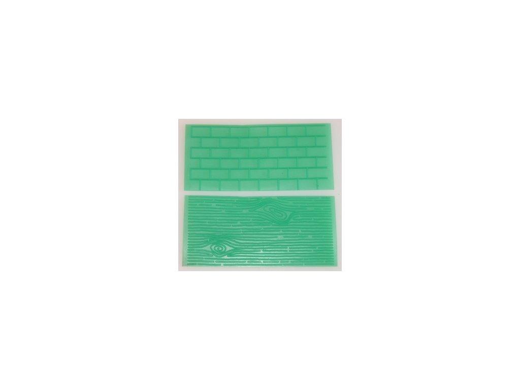 Impression Mats - Otiskovací podložky 1 - kůra stromu & cihlová zeď