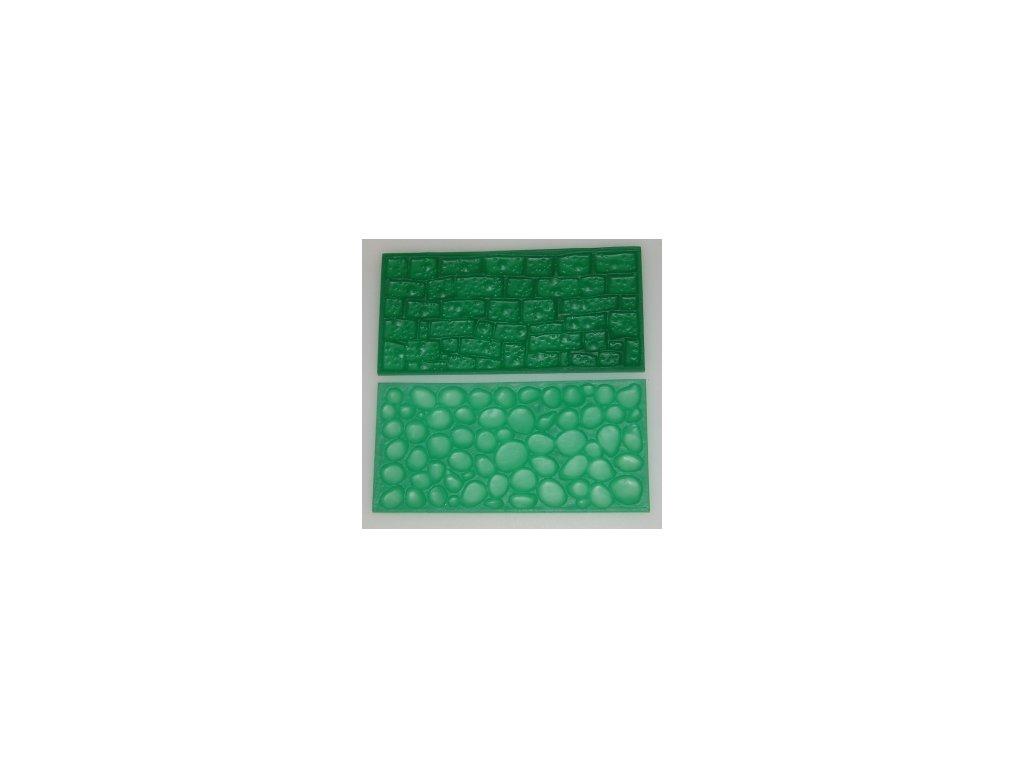 Impression Mats - Otiskovací podložky 2 - dlažební kostky & kamenná zeď