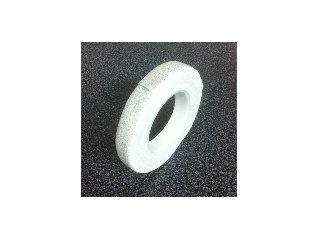 Floristická páska PME - třpytivě bílá