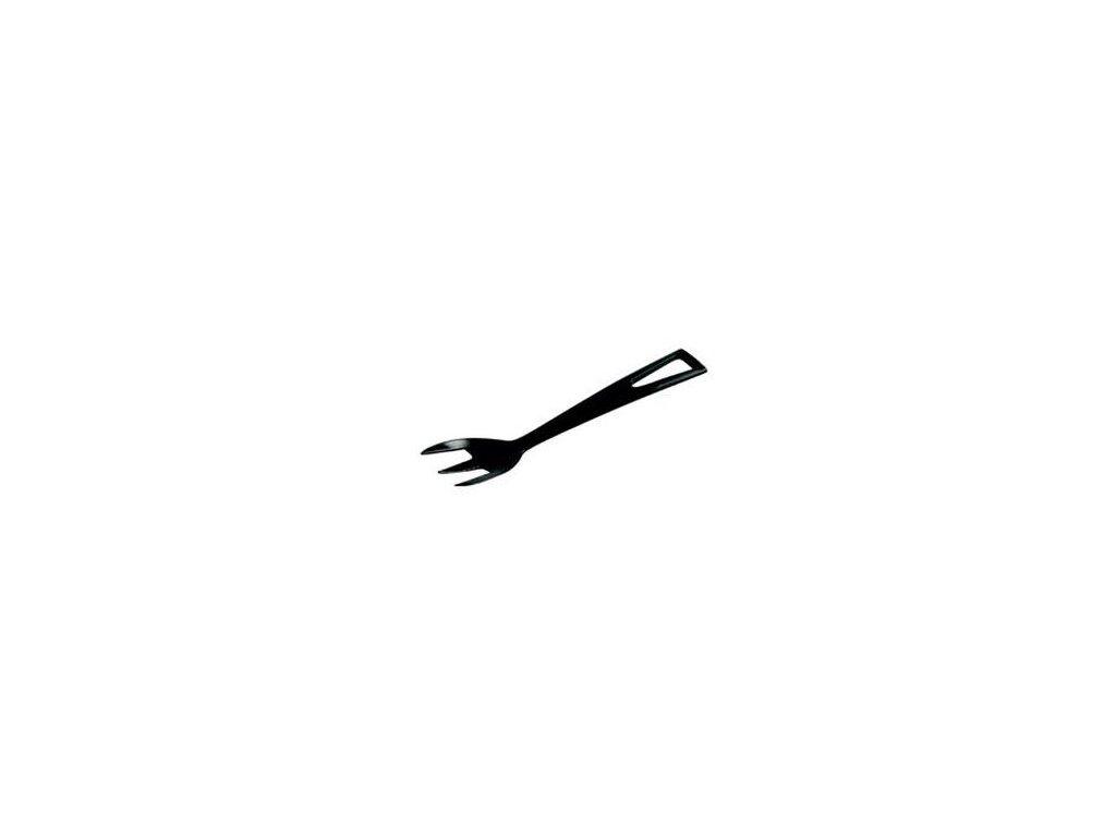 Plastové vidličky jednorázové - Černé (100 ks)