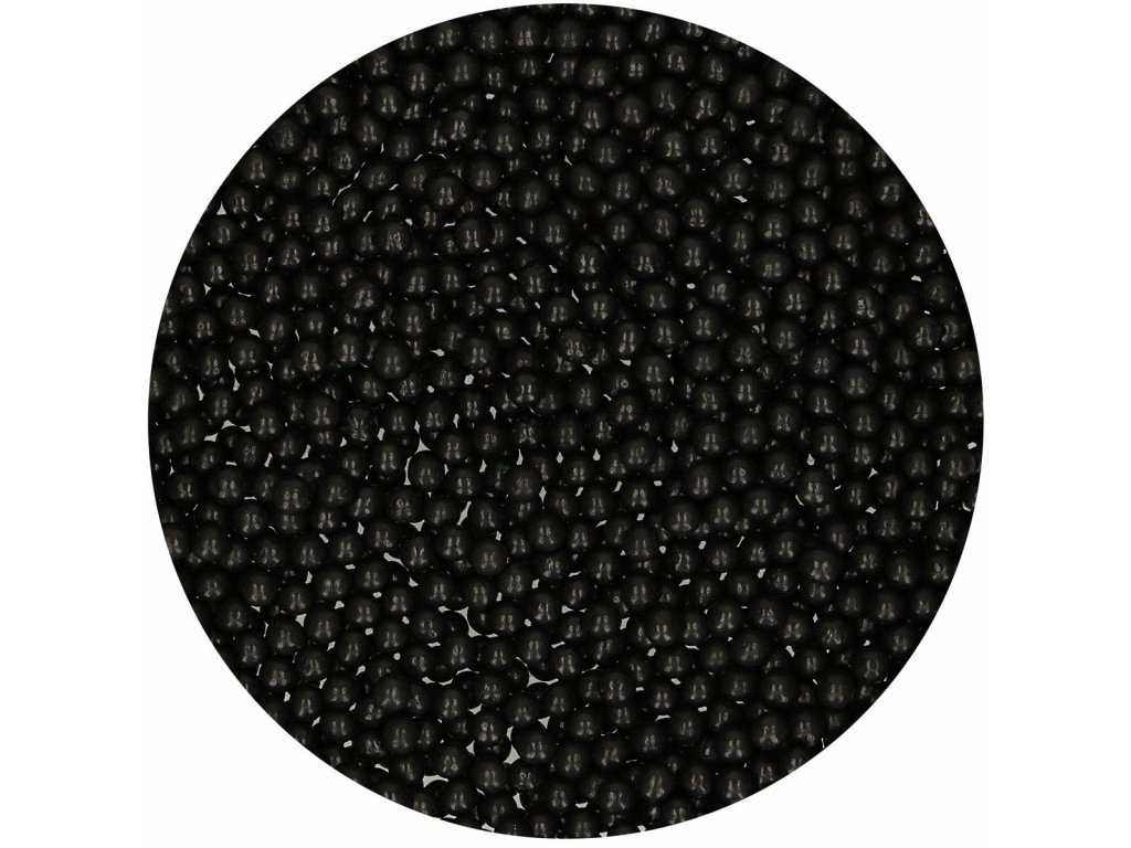 Perličky Fun Cakes - černé (4 mm)